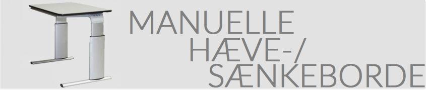 Manuelle hæve-/sænkeborde