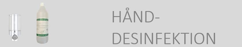 Hånddesinfektion m.v.