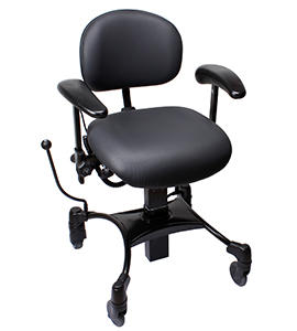 Tilbud på Vela Tango 100 El – Arbejdsstol med elektrisk højdejustering