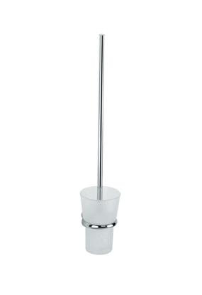 Billede af sam Freeline toiletbørste med ekstra længde - væghængt med flot glasskål og messingophæng (længde: 72 cm - fås dog op til 100 cm)