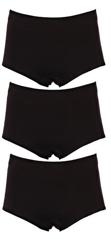 Image of   3 stk. Wundies Maxi i sort (uden blonder, 30 ml indlæg)