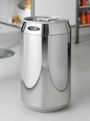 Tilbud på No touch affaldsspand Rimini 30 liter dåselignende model  (Steel-Function) med bevægelsessensor