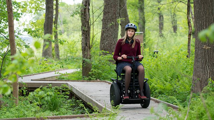 Billede af AddSeat Segway model 5:0 - elektrisk terrængående køretøj til natur- og byoplevelser