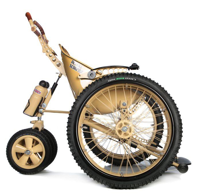 Image of   Desert Scorpion kørestol fra Trekinetic til særligt vanskeligt terræn, f.eks. sand