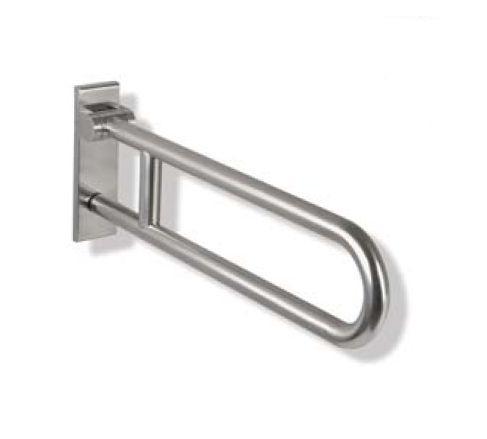 HEWI Range 805 Classic. Toiletstøtte med hængsel og låsemekanisme