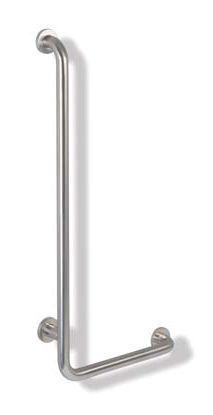 Billede af HEWI Range 805 Classic. L-formet retvinklet håndliste i rustfrit stål.