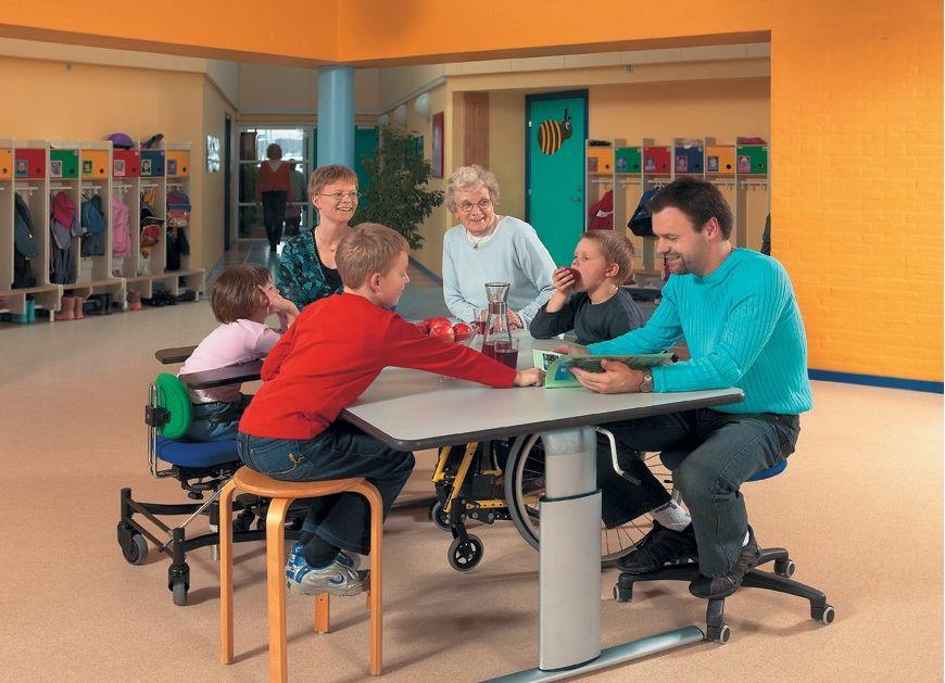 Tilbud på ROPOX Vision hæve-/sænkebord 200 x 100 cm bordplade manuel højdejustering