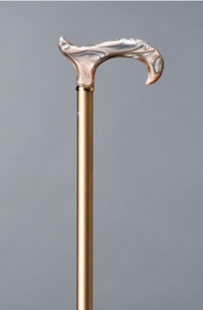Image of   Elegant spadserestok i aluminium med champagnefarvet akrylhåndtag fra Gastrock