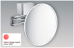 Billede af Sam Miro kosmetikspejl med LED-lys og forstørrelse, skjult ledning og foldbar dobbeltarm
