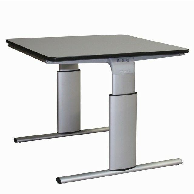 Tilbud på ROPOX Vision hæve-/sænkebord 90 x 90 cm bordplade elektrisk højdejustering